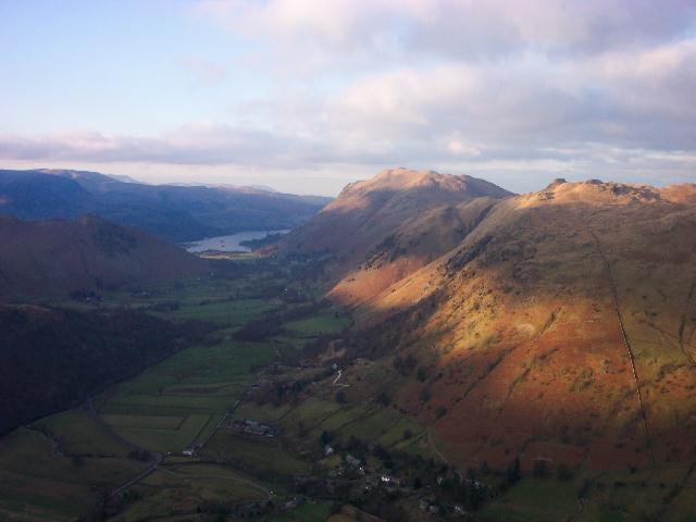 Ullswater, Place Fell and Angletarn Pikes from Hartsop Dodd