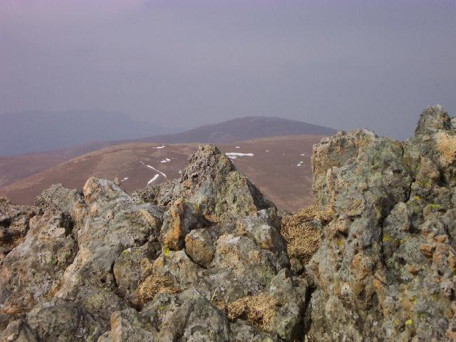 Looking towards Stybarrow Dodd and Great Dodd from the summit of Raise