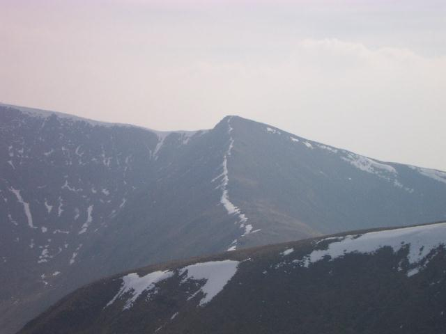 Helvellyn Lower Man from the southern end of Raise's summit