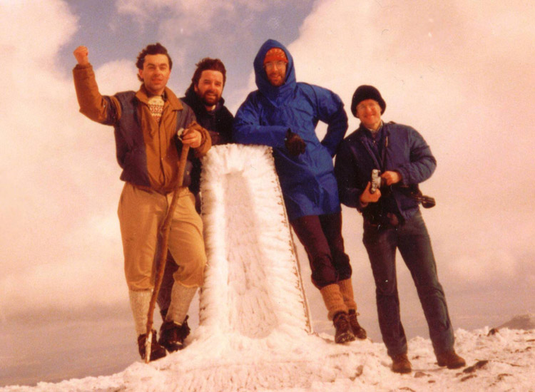 Skiddaw Summit - Easter 1986
