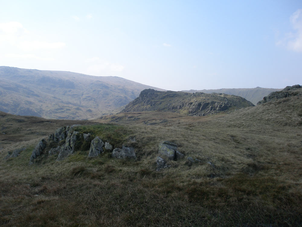 Calf Crag from the path to Gibson Knott