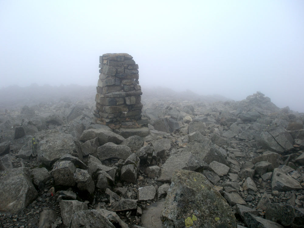 Scafell Pike triangulation column